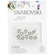 Swarovski Create Your Style Round Setting Crystals, Silver