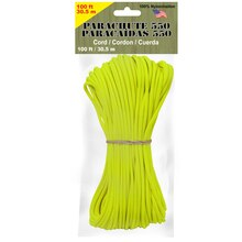 Pepperell 4 mm Parachute Cord, Neon Yellow
