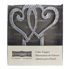 Occasions Double Heart Cake Topper by Celebrate It Package