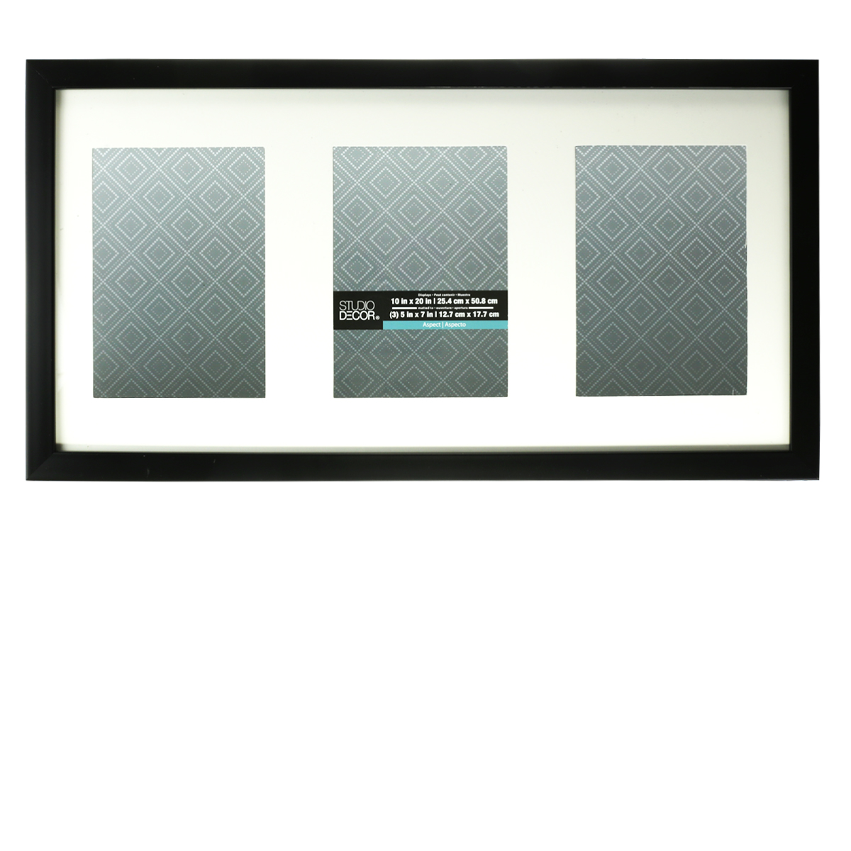 aspect collection black collage frame by studio decor 3 openings - Collage Photo Frames