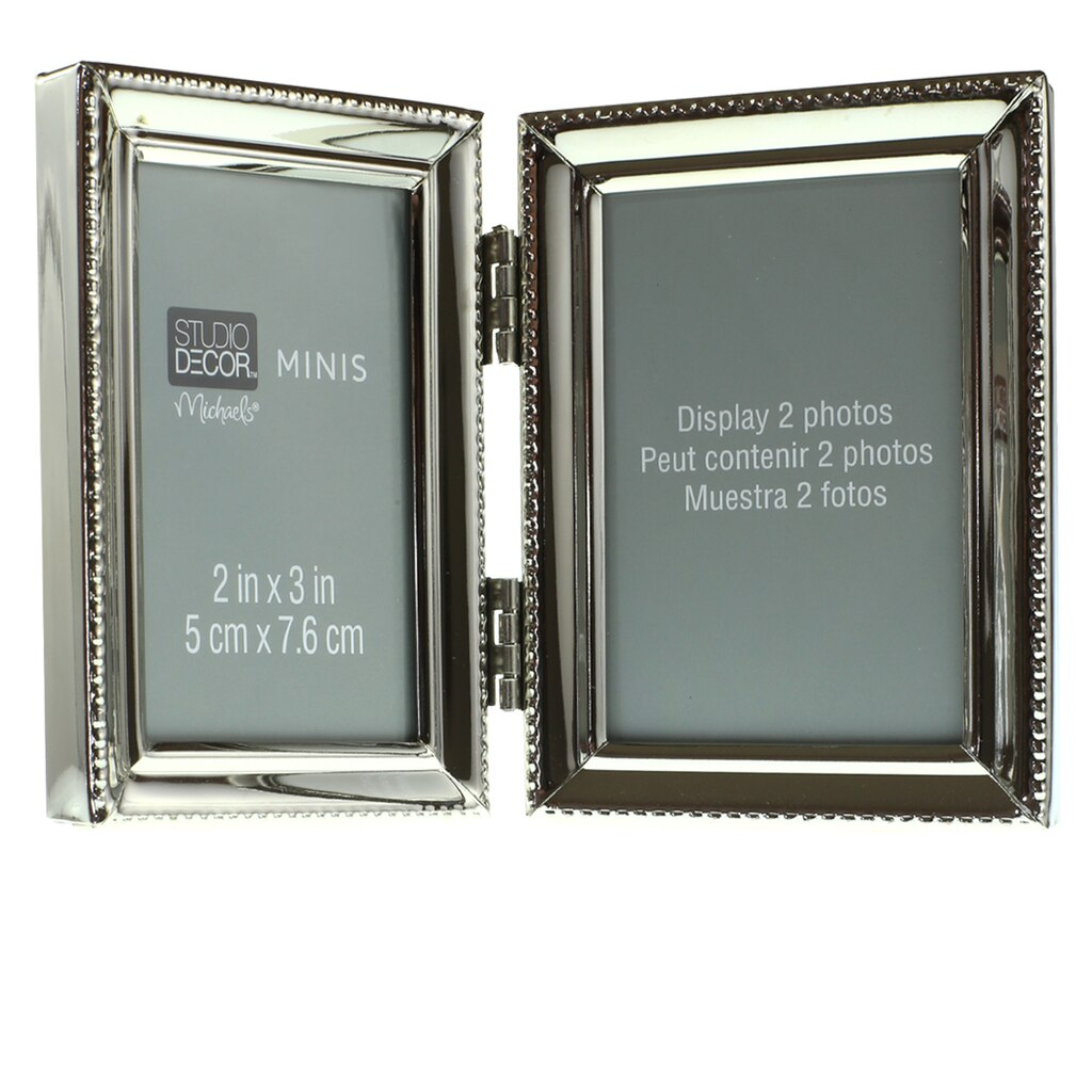 Buy the Metal Hinged 2-Opening Mini Frame by Studio Décor® at Michaels