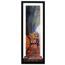 "Black Home Collection Flat Frame by Studio Decor, 11.75"" x 36"""