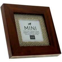 Mini Walnut Frame with Burlap by Studio Decor