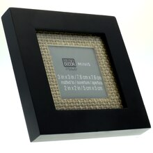 Mini Black Frame with Burlap by Studio Decor®