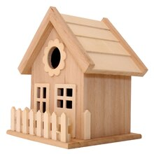 Wood Birdhouse with Fence by ArtMinds