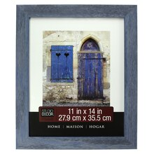 """Home Collection Blue Distressed Frame by Studio Decor, 11"""" x 14"""""""