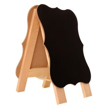 Wooden Parenthesis Chalkboard Easel by ArtMinds Side