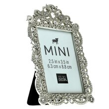 Mini Antique Silver Frame with Jewels by Studio Decor, Side View