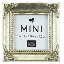 Silver Leaf Mini Frame with Corner Accent by Studio Décor