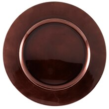 "Ashland® 13"" Brown Charger, medium"