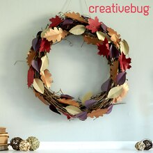 Cricut Crafts - DIY Fall Leaves Wreath, medium