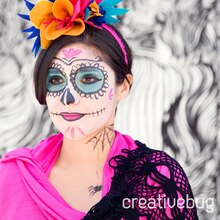 Dia de los Muertos Face Paint, medium