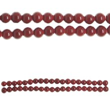 Bead Gallery Opaque Round Glass Beads, Red