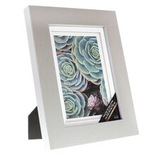 "Gray Gallery Frame With Double Mat by Studio Decor, 4"" x 6"""