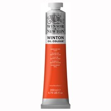 Winsor & Newton Winton Oil Color, 200ml Cadmium Red Light