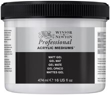 Winsor & Newton Professional Acrylic Medium, Matte Gel - 474ml