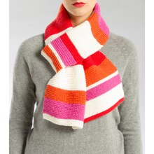 Isaac Mizrahi® CRAFT™ Knit Striped Scarf, medium