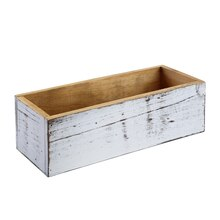 "Whitewashed Wood Box by ArtMinds, 12"" x 4.7"" x 3.5"""