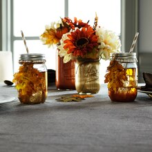 Fall Mason Jar Beverage Glasses, medium