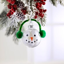 Kids' Pom Pom Snowman Ornament, medium