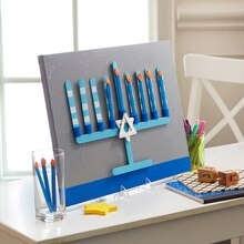 Craft Stick Menorah, medium
