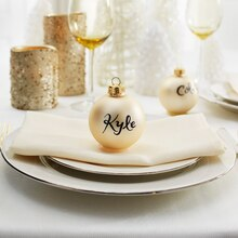 Frost Glass Ornament Place Card Holder, medium