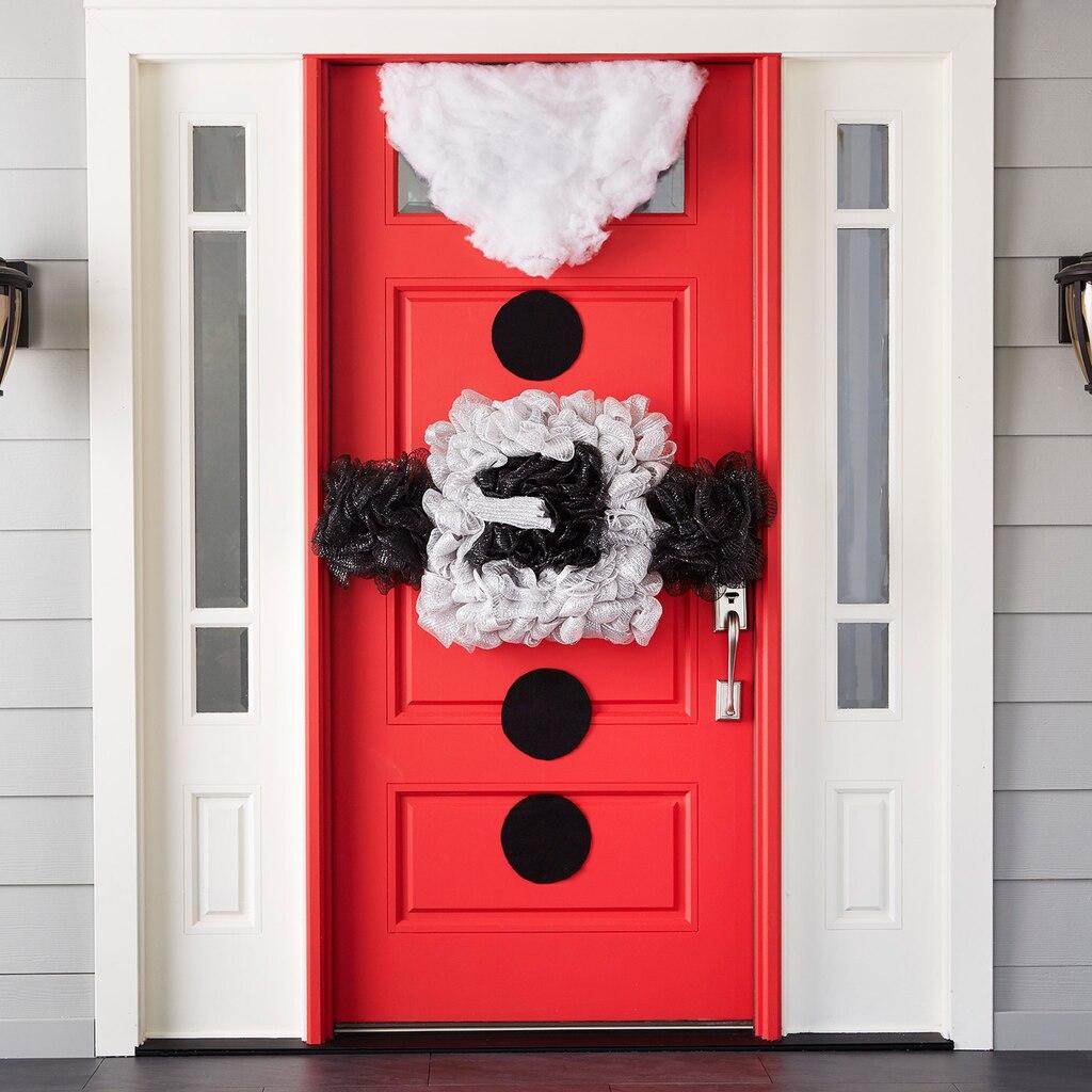 Christmas Door Frame Decorations: Whimsy Santa's Belt Mesh Door Décor