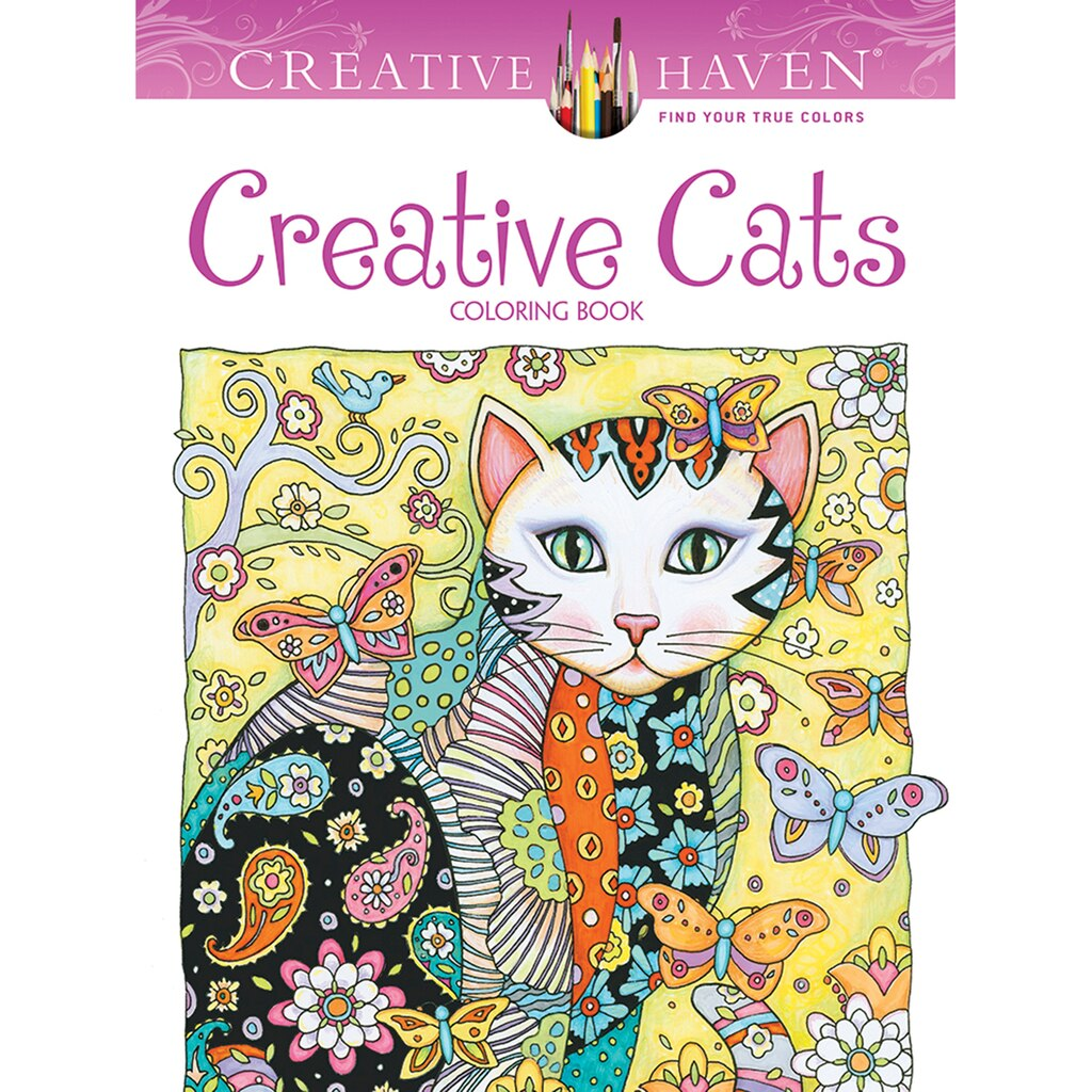 Book coloring - Creative Haven Creative Cats Coloring Book