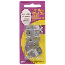 "OOK Metal Offset Clip with Hardware, 1/8"" Pack"