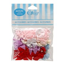 Offray 2-Loop Bows with Pearls Value Pack, Multi