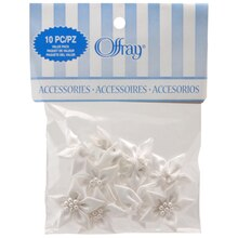 Offray Lilies Value Pack, White