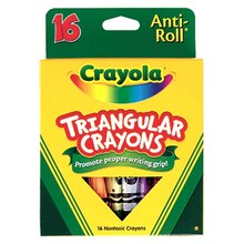 Crayola Anti-Roll Triangular Crayons