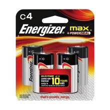 Energizer MAX Batteries C, 4 Pack