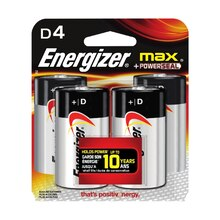 Energizer MAX D Alkaline Battery, 4 Pack