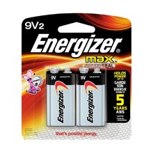 Energizer MAX Batteries, 9V, 2 Pack
