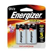 Energizer MAX Batteries, 9V, 2 Pack