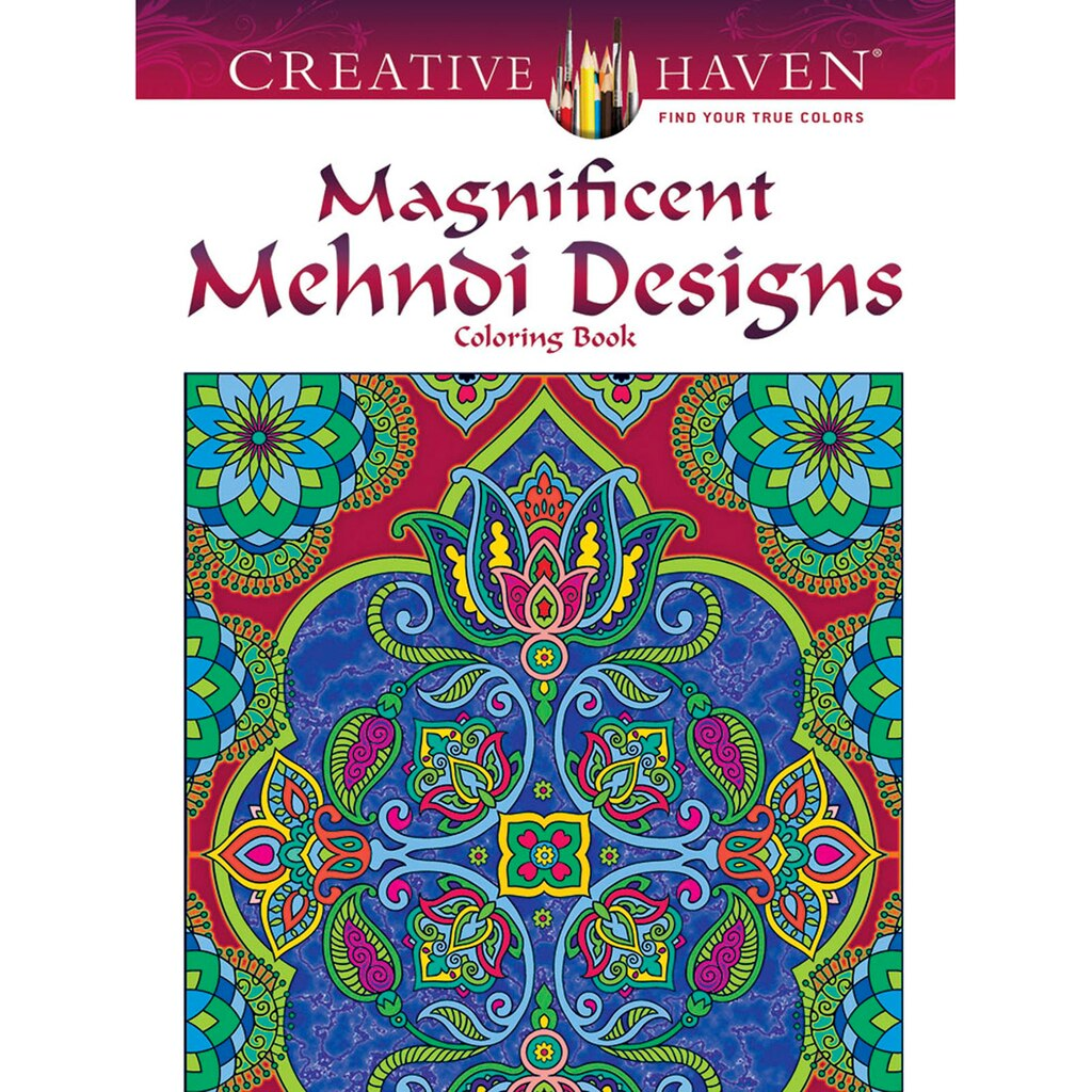 Lotus designs coloring book - Creative Haven Magnificent Mehndi Designs Coloring Book