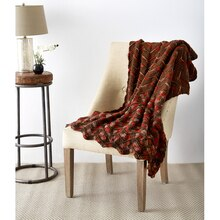 Loops & Threads® Impeccable™ Big Shaded Chevrons Crochet Throw, medium