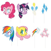 My Little Pony Photo Booth Props, 8pc