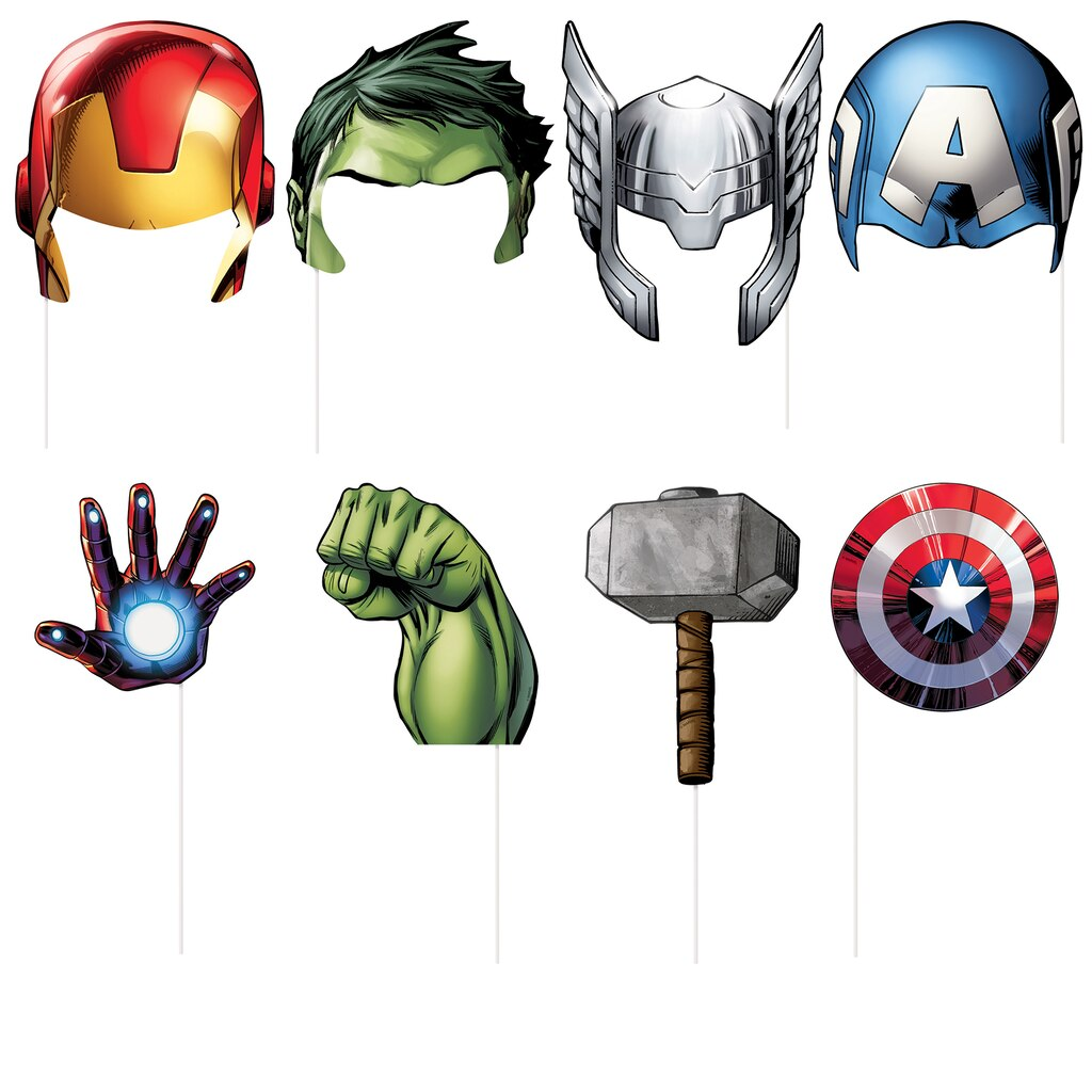 Avengers Photo Booth Props Avengers Party Supplies