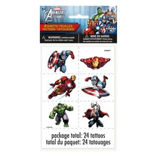Avengers Tattoo Sheets, 4ct