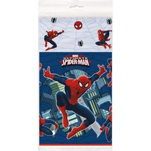 "Plastic Spiderman Table Cover, 84"" x 54"""