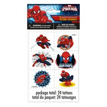 Spiderman Tattoo Sheets, 4ct
