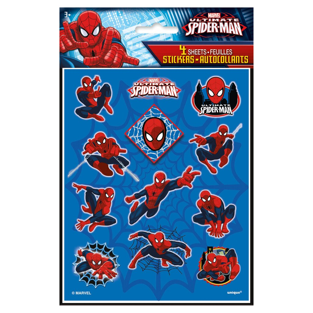 spiderman sticker sheets spiderman party favors