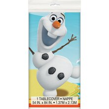 "Plastic Olaf Table Cover, 84"" x 54"""