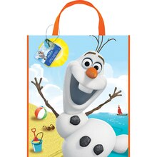 "Large Plastic Olaf Favor Bag, 13"" x 11"""