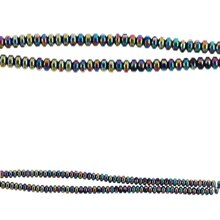 Bead Gallery Hematite Stone Rondelle Beads, Close Up
