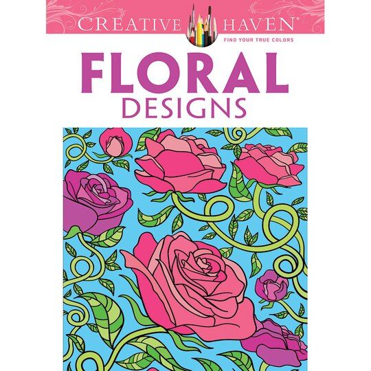 creative haven floral designs coloring book. Black Bedroom Furniture Sets. Home Design Ideas