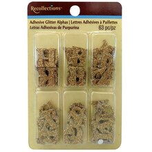 Gold Adhesive Glitter Alphas Kit by Recollections
