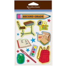 Second Grade Dimensional Stickers by Recollections